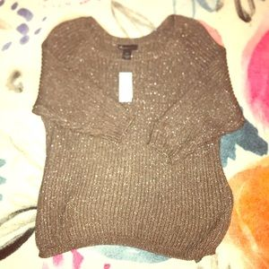 Gorgeous sweater with some shimmer in the threads